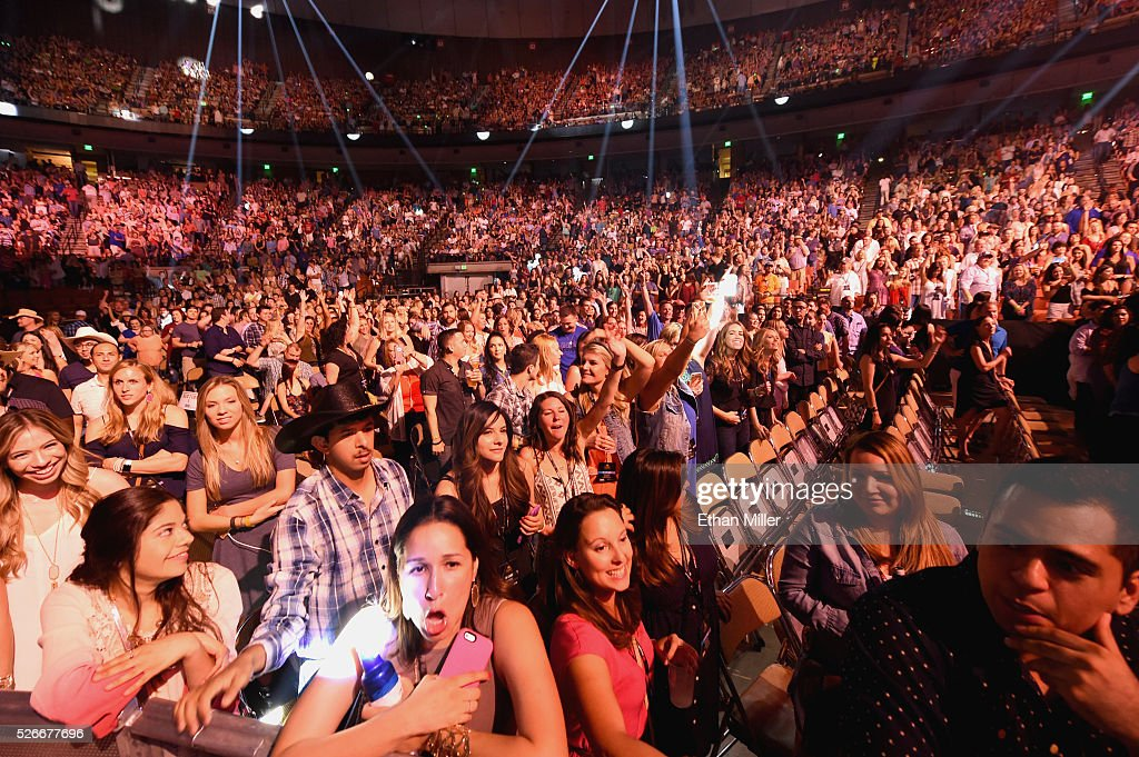 Audience memebers enjoy the 2016 iHeartCountry Festival at The Frank Erwin Center on April 30, 2016 in Austin, Texas.