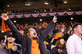 Fans react to the San Francisco Giants beating the St Louis Cardinals in Game 5 of the NLCS at ATT Park on Thursday October 16 2014 in San Francisco...