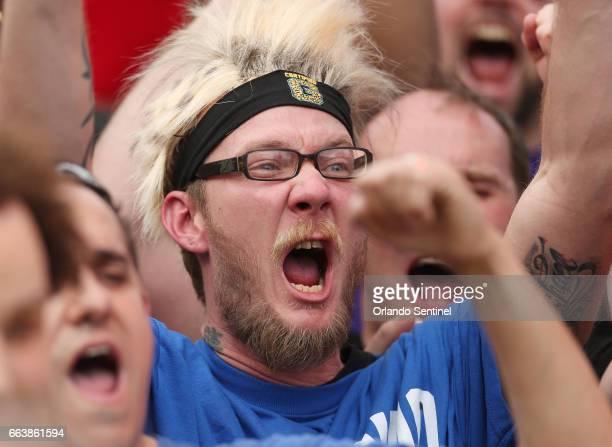 Fans scream during WrestleMania 33 on Sunday April 2 2017 at Camping World Stadium in Orlando Fla