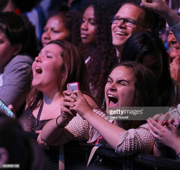 TORONTO JUNE 15 Fans screaming during the performances at MMVA 2014 awards show featuring some of the countries best talent on June 15 2014