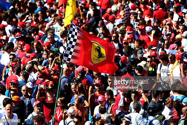 Fans show their support along the pit straight after the Formula One Grand Prix of Italy at Autodromo di Monza on September 6 2015 in Monza Italy