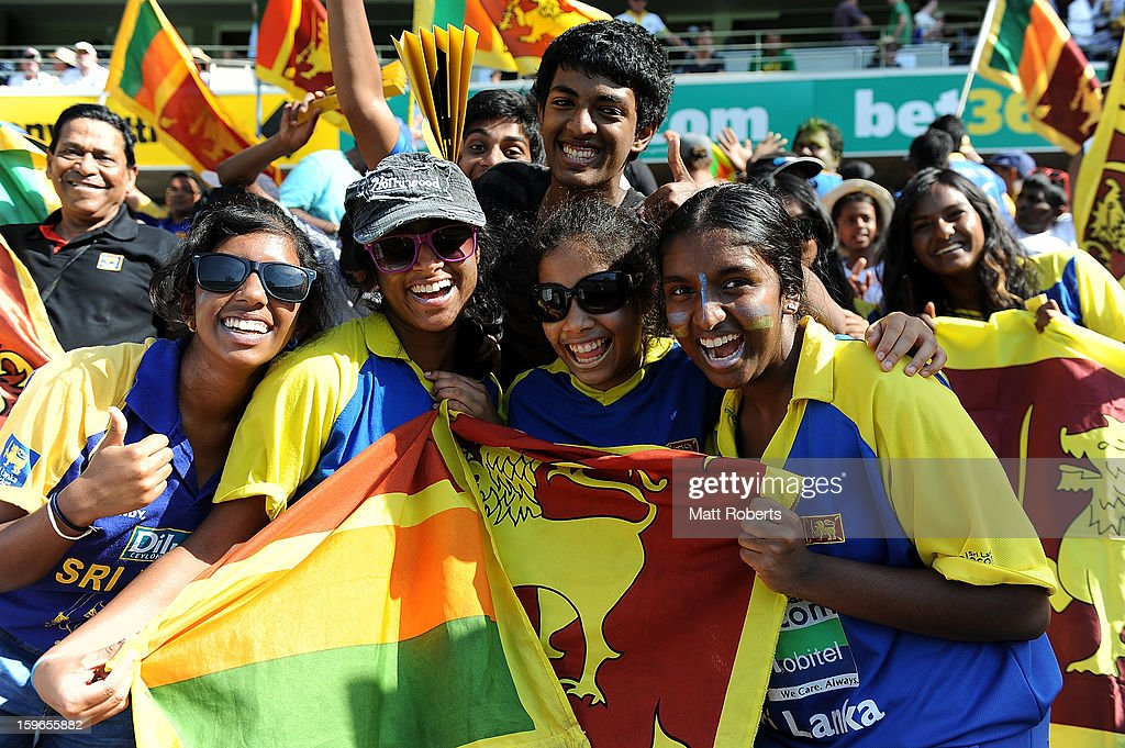 Fans show their support during game three of the Commonwealth Bank One Day International Series between Australia and Sri Lanka at The Gabba on January 18, 2013 in Brisbane, Australia.