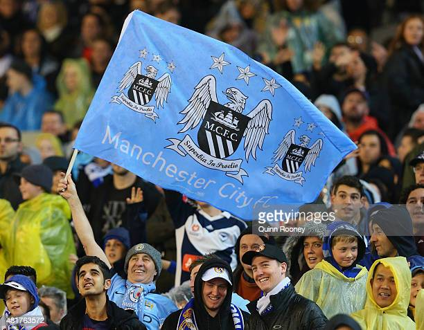 Fans show their support during the International Champions Cup match between Real Madrid and Manchester City at Melbourne Cricket Ground on July 24...