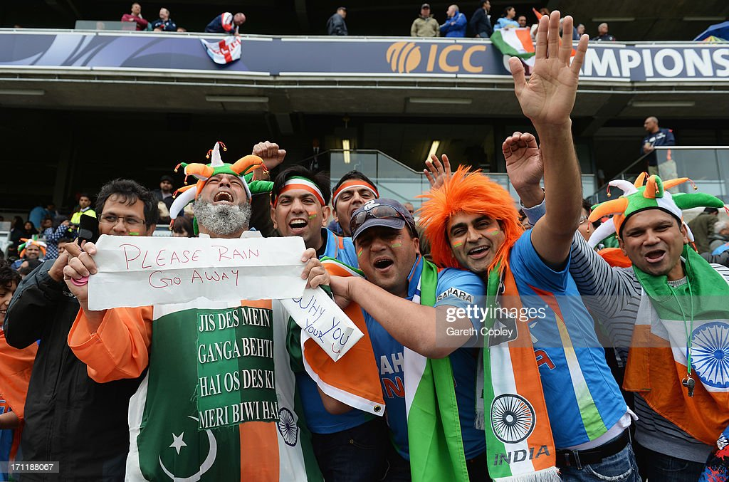 Fans soak up the atmosphere prior to the ICC Champions Trophy Final between England and India at Edgbaston on June 23, 2013 in Birmingham, England.