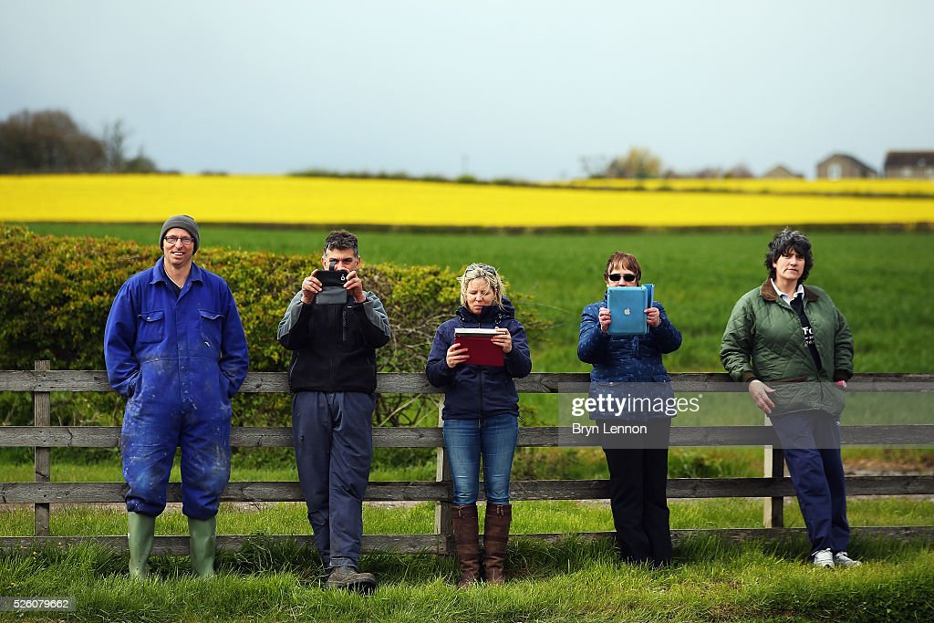 Fans stand by the roadside waiting for the riders on stage one of the 2016 Tour de Yorkshire from Beverley to Settle on April 29, 2016 in Settle, England.