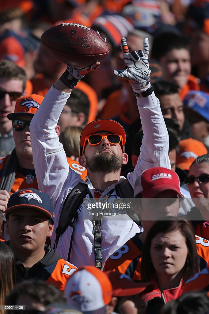 Fans support the Super Bowl 50 Champion Denver Broncos as they attend a rally at the Denver City and County Building on February 9, 2016 in Denver, Colorado. The Broncos defeated the Carolina Panthers 24-10 in Super Bowl 50.