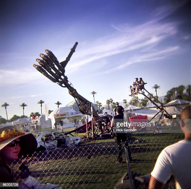 Fans take in the music and art at the Coachella Valley Music and Arts Festival at the Empire Polo Fields on April 18 2009 in Indio California The...