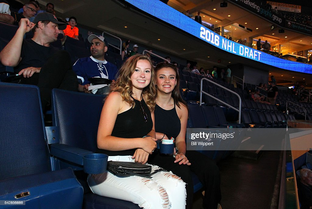 Fans take their seat prior to round one of the 2016 NHL Draft at First Niagara Center on June 24, 2016 in Buffalo, New York.