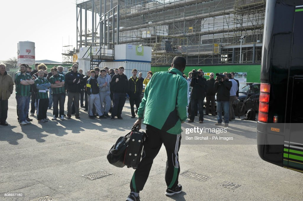 Fans Turn Up Outside Home Park Plymouth Argyle Football Club Devon