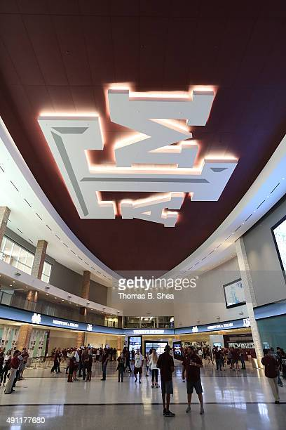Fans visit the Hall of Champions before the Texas AM Aggies played the Mississippi State Bulldogs on October 3 2015 at Kyle Field in College Station...