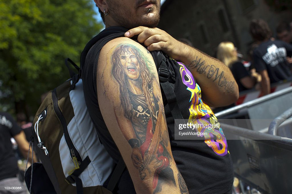 Fans wait for getting into Villa Manin prior to a concert of the english Heavy Metal band Iron Maiden with singer Bruce Dickinson on August 17, 2010 in Villa Manin, Codroipo near Udine, Italy. The band is on their 'The Final Frontier 2010 Eurpopean Tour' through Europe.