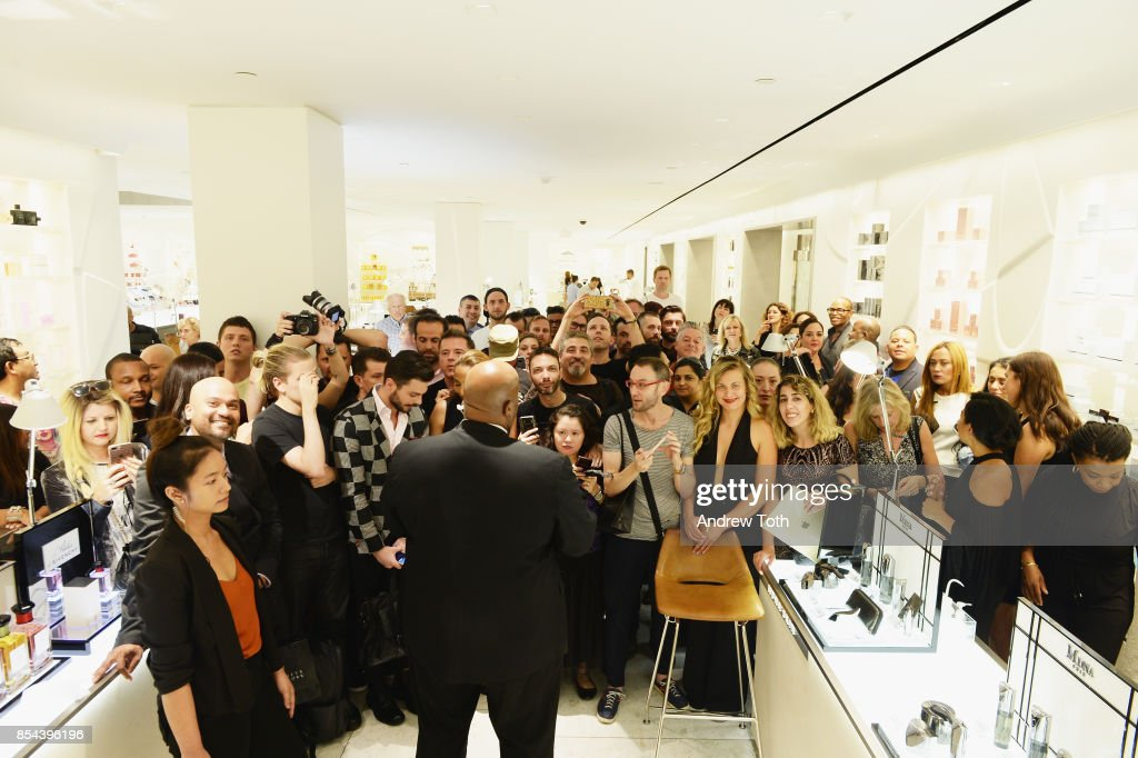 Fans wait for Madonna to arrive as Barneys New York Celebrates the launch of MDNA Skin at Barneys New York on September 26, 2017 in New York City.