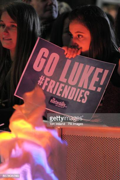 Fans wait for X Factor finalist Luke Friend to arrive at The Great Hall in the University of Exeter for his homecoming gig