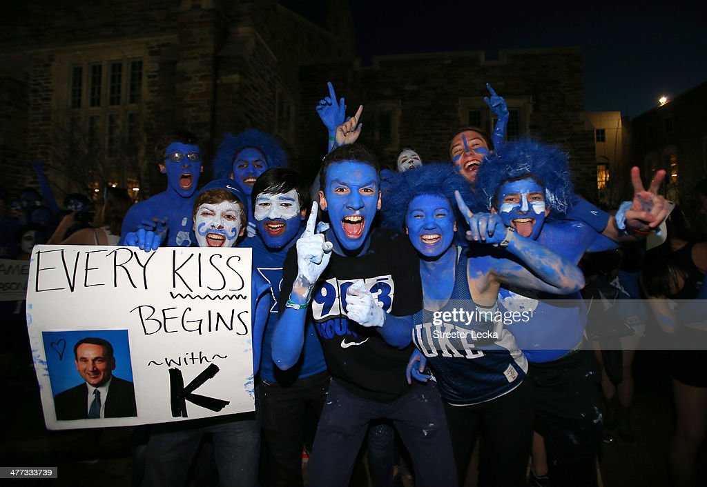 Fans wait in line before the start of the game between the North Carolina Tar Heels and Duke Blue Devils at Cameron Indoor Stadium on March 8 2014 in...