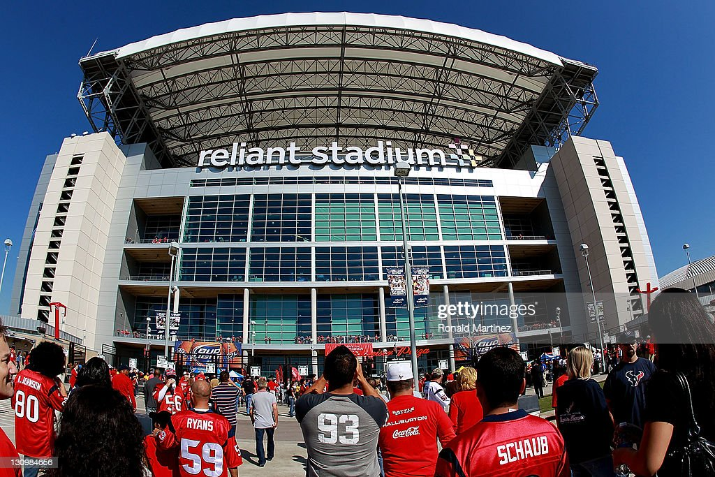 Fans walk to Reliant Stadium before a game between the Jacksonville Jaguars and the Houston Texans on October 30, 2011 in Houston, Texas.
