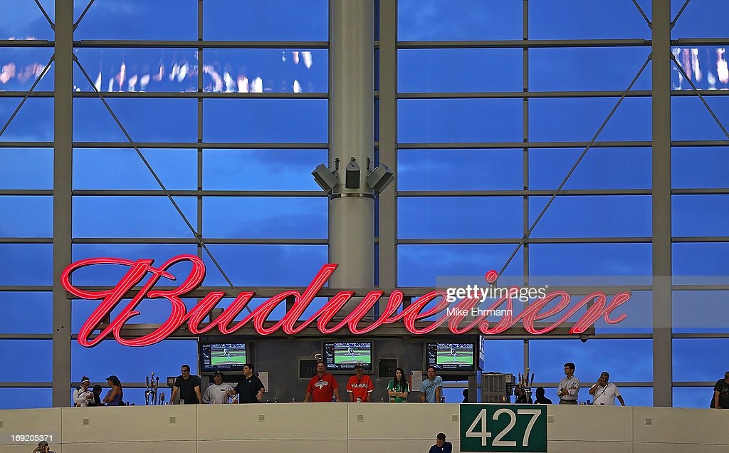 Fans watch a game between the Miami Marlins and the Philadelphia Phillies at Marlins Park on May 21, 2013 in Miami, Florida.