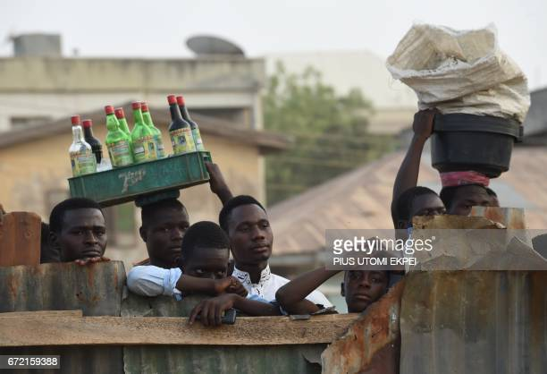 TOPSHOT Fans watch a parasoccer training session in Kano northwestern Nigeria on April 22 2017 The World Health Organization said 116 million...