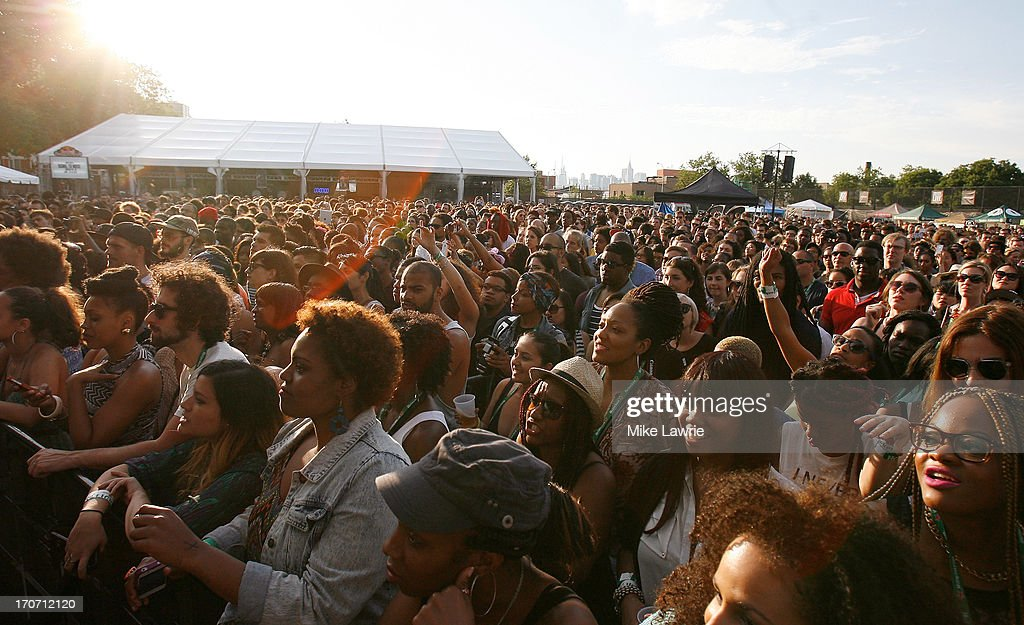 Fans watch as Solange performs during the 2013 Northside Festival at McCarren Park on June 16, 2013 in the Brooklyn borough of New York City.