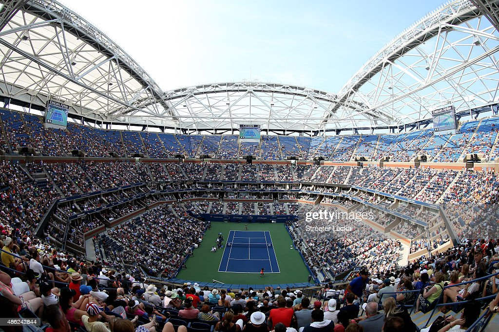 Fans watch from Arthur Ashe Stadium as <a gi-track='captionPersonalityLinkClicked' href=/galleries/search?phrase=Serena+Williams&family=editorial&specificpeople=171101 ng-click='$event.stopPropagation()'>Serena Williams</a> of the United States plays against <a gi-track='captionPersonalityLinkClicked' href=/galleries/search?phrase=Kiki+Bertens&family=editorial&specificpeople=7945371 ng-click='$event.stopPropagation()'>Kiki Bertens</a> of the Netherlands during their Women's Singles Second Round match on Day Three of the 2015 US Open at the USTA Billie Jean King National Tennis Center on September 2, 2015 in the Flushing neighborhood of the Queens borough of New York City.