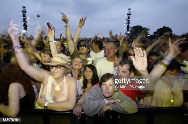 Fans watch Groove Armada perform at the Isle of Wight Festival