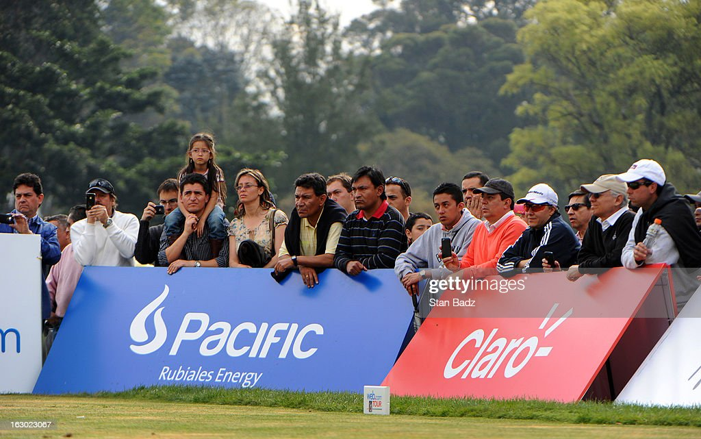 Fans watch play on the 17th hole during the final round of the Colombia Championship at Country Club de Bogota on March 3, 2013 in Bogota, Colombia.