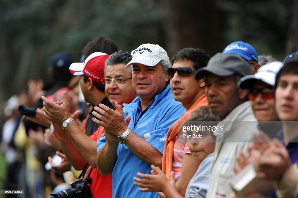 Fans watch play on the seventh hole during the final round of the Colombia Championship at Country Club de Bogota on March 3, 2013 in Bogota, Colombia.