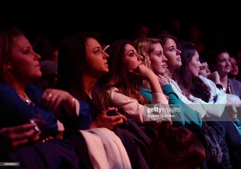 Fans watch singer Ryan Cabrera perform at the Gramercy Theatre on January 4, 2013 in New York City.