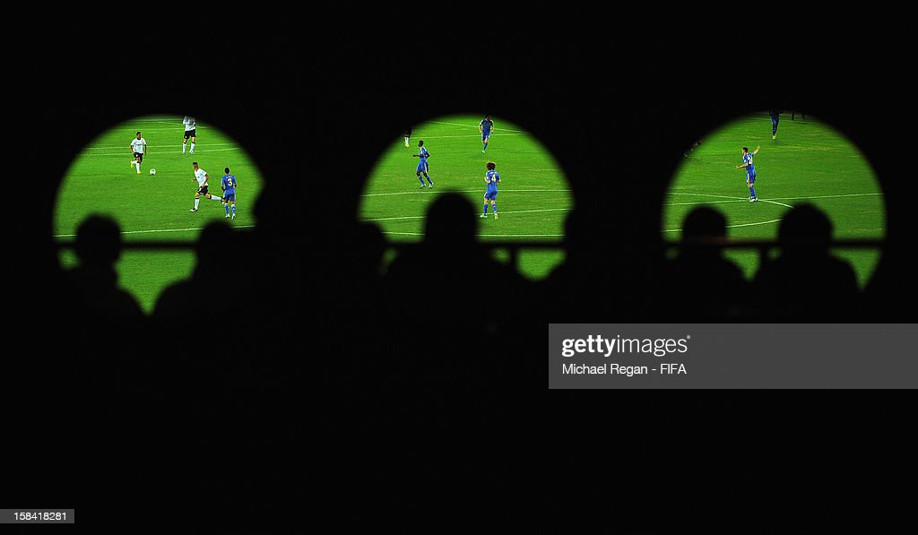 Fans watch the game during the FIFA Club World Cup Final Match between Corinthians and Chelsea at the International Stadium Yokohama on December 16, 2012 in Yokohama, Japan.
