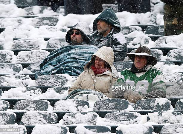 Fans watch the Philadelphia Eagles take on the Detroit Lions on December 8 2013 at Lincoln Financial Field in Philadelphia Pennsylvania