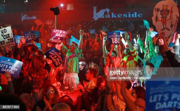 Fans watch the semifinal between Stephen Bunton and Robbie Green during the BDO World Championships at the Lakeside Complex Surrey