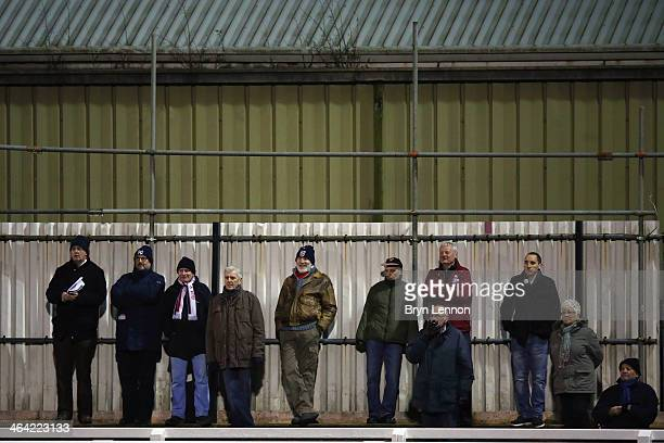 Fans watch the Skrill Conference Premier match between Woking and Chester at the Kingfield Stadium on January 21 2014 in Woking England