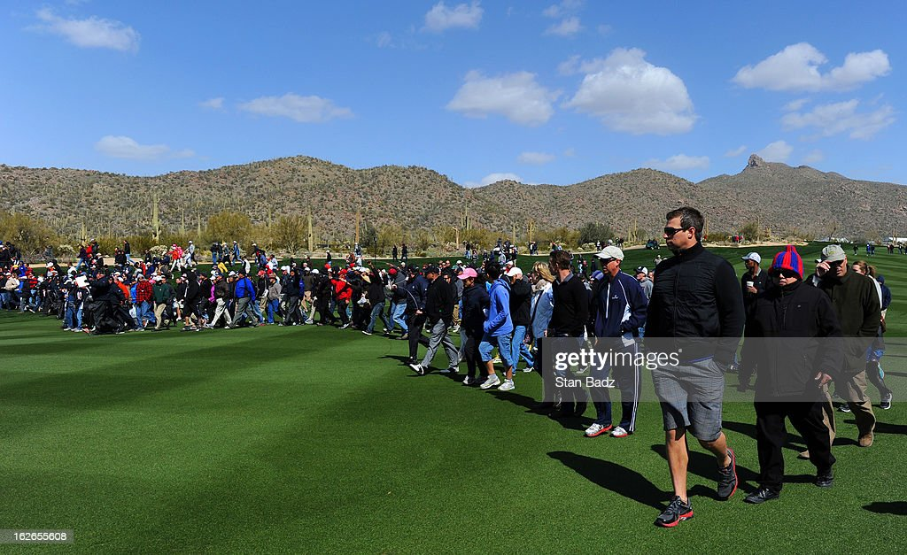 Fans were allowed to walk the fairways during the final round of the World Golf Championships-Accenture Match Play Championship at The Golf Club at Dove Mountain on February 24, 2013 in Marana, Arizona.
