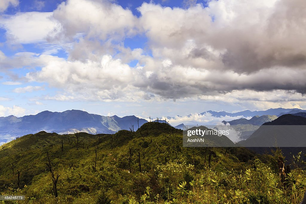 Fansipan mountain : Stock Photo