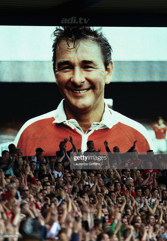 Fansremeber Brian Clough during the Sky Bet Championship match between Nottingham Forest and Derby County at City Ground on September 14 2014 in...