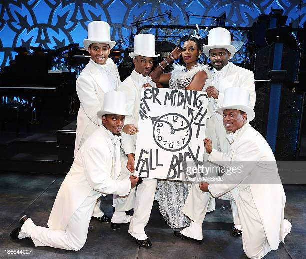 Fantasia and the men of 'After Midnight' attend the 'After Midnight' Day Light Savings Time Reminder to 'Fall Back after Midnight' at The Brooks...