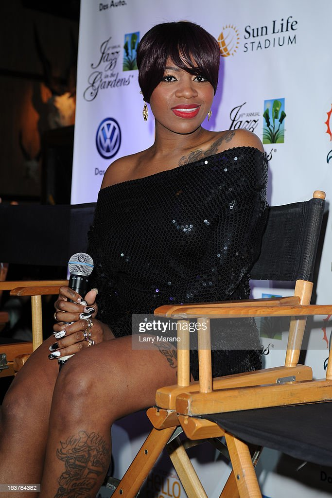 Fantasia attends 8th Annual Jazz In The Gardens Press Conference at Pangea at Seminole Hard Rock Hotel on March 15, 2013 in Hollywood, Florida.