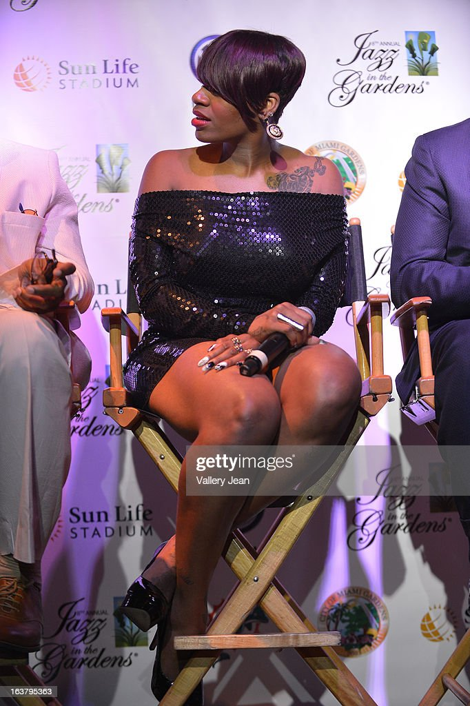 Fantasia attends the 8th Annual Jazz in the Gardens Press Conference at Seminole Hard Rock Hotel & Casino ? Hard Rock Cafe Hollywood on March 15, 2013 in Hollywood, Florida.