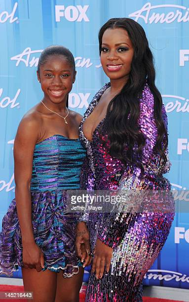 Fantasia Barrino and guest attend 'American Idol' Season 11 Grand Finale Show at Nokia Theatre LA Live on May 23 2012 in Los Angeles California