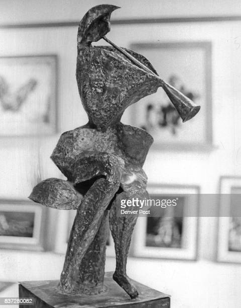 APR 4 1966 APR 10 1966 'Fantasia' brazed copper sculpture by Phyllis Kresnoff Credit Denver Post