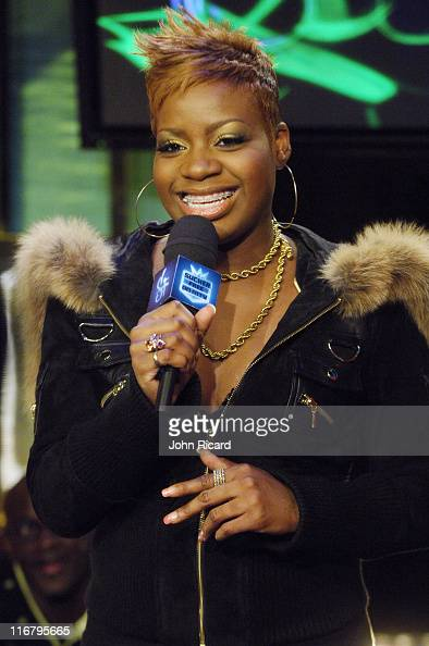 Fantasia during Fantasia and Lil' Boosie Visit MTV's 'Sucker Free' January 23 2007 at MTV Studios in New York City New York United States