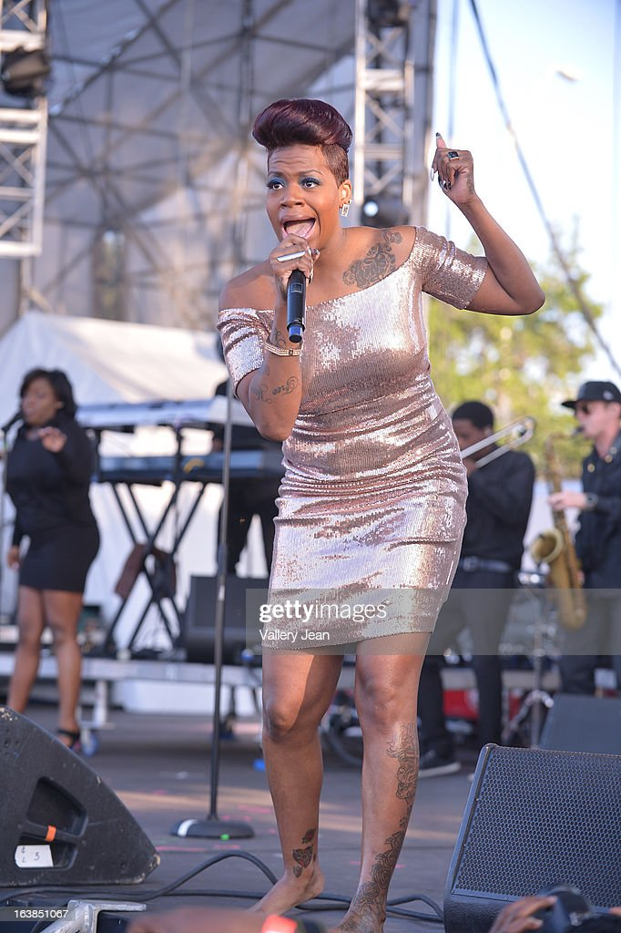 Fantasia performs at Miami Gardens 8th Annual Jazz In The Gardens Music Festival - Day 1 at Sun Life Stadium on March 16, 2013 in Miami Gardens, Florida.