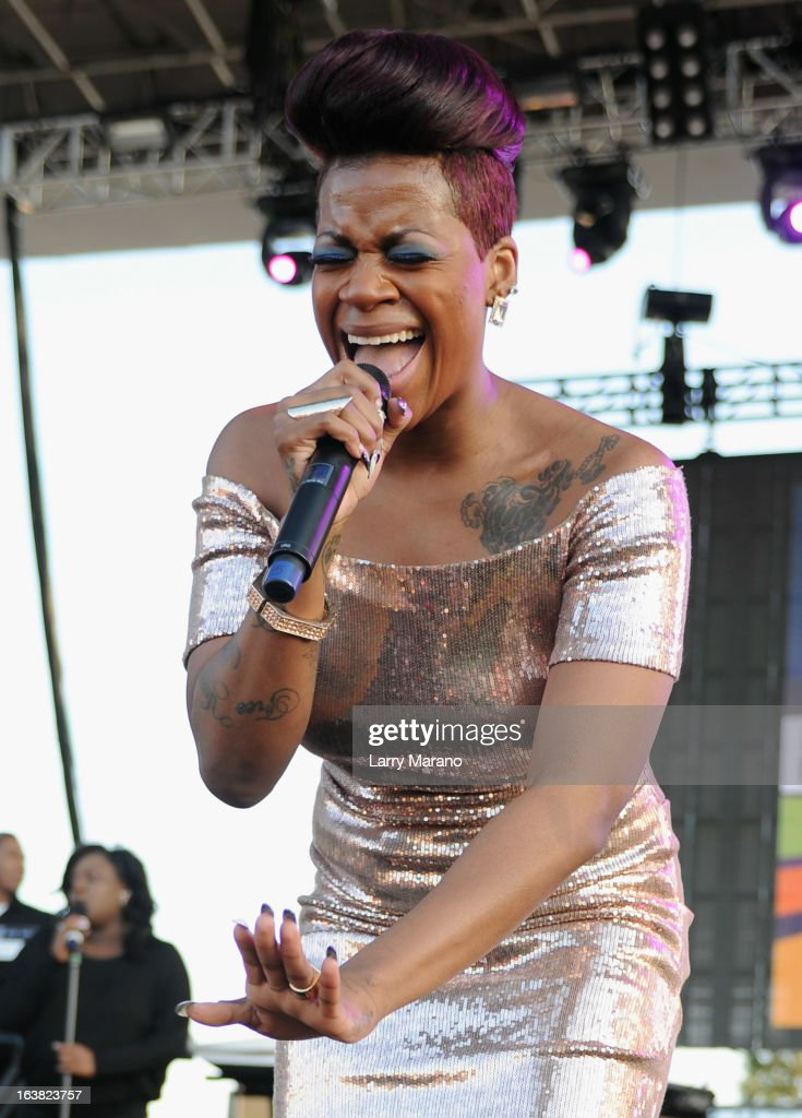 Fantasia performs at the 8th Annual Jazz In The Gardens Day 1 at Sun Life Stadium presented by the City of Miami Gardens on March 16, 2013 in Miami Gardens, Florida.
