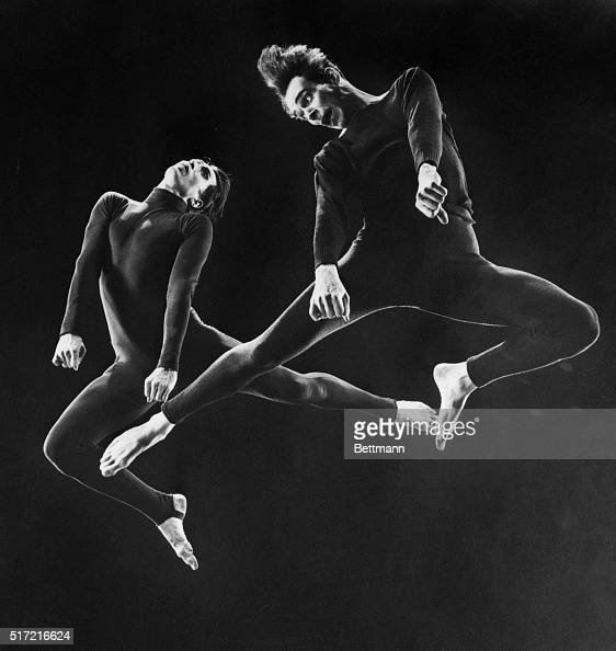A fantastic study in light and shadow Jose Limon and Charles Weidman are dramatically caught in midair by the ultrahighspeed camera of Gjon Mili...