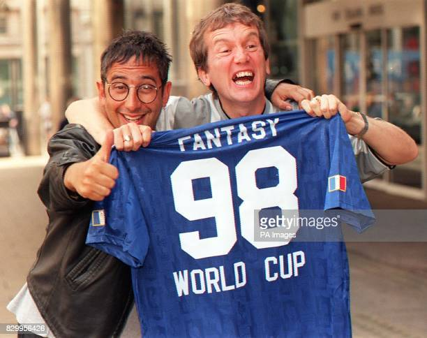 Fantasy Football will be back on the box and live for World Cup 98 on ITV it was announced today Frank Skinner and David Baddiel at The Sports Cafe...