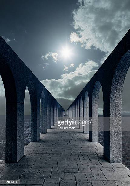 Fantasy Passageway With Arches