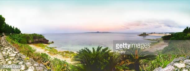 Fantasy seashore and Emerald Beach, Ishikawa, Kunigami, Okinawa, Japan