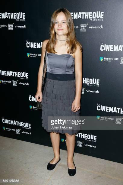 Fantine Harduin attends 'Happy End' Paris Premiere at la cinematheque on September 18 2017 in Paris France