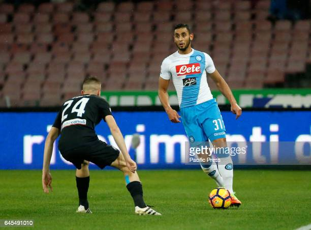Faouzi Ghoulam during the Italian Serie A soccer match between SSC Napoli and Atalanta at the San Paolo stadium Atalanta beats Napoli at San Paolo...