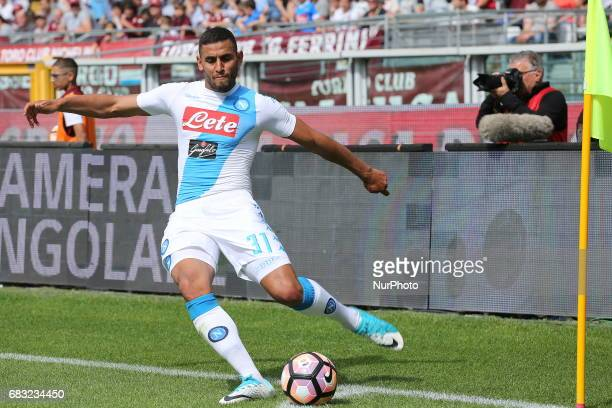 Faouzi Ghoulam during the Serie A football match between Torino FC and SSC Napoli at Olympic stadium Grande Torino on may 14 2017 in Turin Italy...
