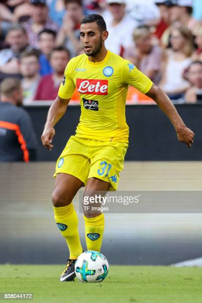 Faouzi Ghoulam of Napoli controls the ball during the first Audi Cup football match between Atletico Madrid and SSC Napoli in the stadium in Munich...